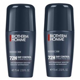 BIOTHERM HOMME DAY CONTROL ROLL-ON ANTI-TRANSPIRANT 72H 2X75ML