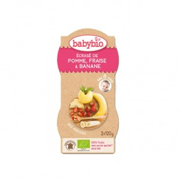 BABYBIO P'TITS FRUITS JUNIOR DES 12 MOIS BOL 2X120G