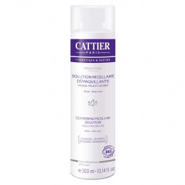 CATTIER PERLE D'EAU SOLUTION MICELLAIRE DEMAQUILLANTE BIO 300ML