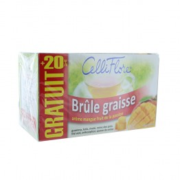 JUVAMINE CELLI FLORE THE BRULE GRAISSE 24 SACHETS
