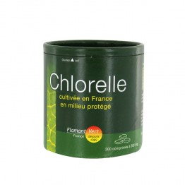 FLAMANT VERT CHLORELLE COMPLEMENT ALIMENTAIRE 300 COMPRIMES A 300 MG