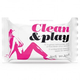 LOVE TO LOVE CLEAN AND PLAY PACK DE 10 LINGETTES NETTOYANTES