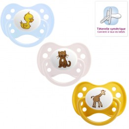 DODIE SUCETTE ANATOMIQUE ANIMAUX 0-6MOIS SILICONE