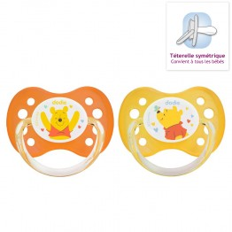DODIE SUCETTES ANATOMIQUES EN SILICONE COLLECTION WINNIE 0-6 MOIS X2