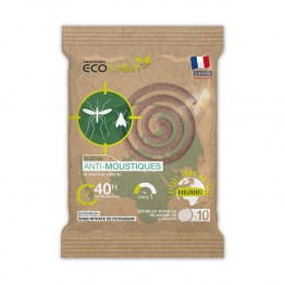 ECOLIGN ECOCOIL110 SPIRALES INSECTICIDES X10 UNITES