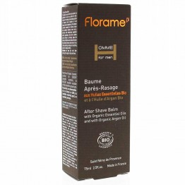 FLORAME HOMME FOR MEN  BAUME APRES-RASAGE BIOLOGIQUE 75ML
