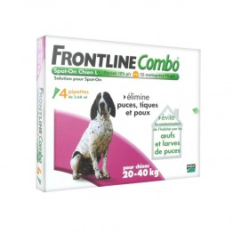FRONTLINE COMBO SPOT-ON L CHIEN 20-40KG 4 PIPETTES