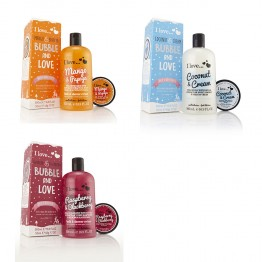 I LOVE BUBBLE & LOVE CREME BAIN DOUCHE 500ML+ BEURRE COPRPOREL 50ML