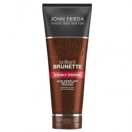 JOHN FRIEDA BRILLIANT BRUNETTE VISIBLY DEEPER SOIN DEMELANT BRUN PLUS PROFOND 250ML