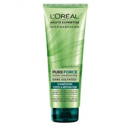 L'OREAL HAUTE EXPERTISE PURE FORCE SHAMPOOING FORCE ET REPARATION CHEVEUX FRAGILES 250ML