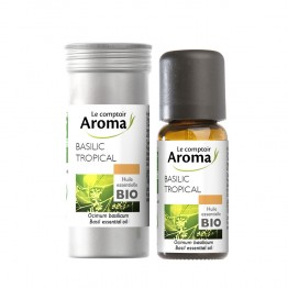 LE COMPTOIR AROMA HUILE ESSENITELLE DE BASILIC TROPICAL BIO 10ML