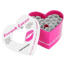 LOVE TO LOVE FRENCH LOVER JEU DE SEDUCTION A LA FRANCAISE BOITE DE 24 DEFIS