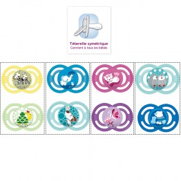 MAM SUCETTE ANATOMIQUE SILICONE PERFECT ANIMAUX 18 MOIS + X2