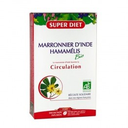 SUPERDIET MARRONIER D'INDE HAMAMELIS CIRCULATION 20 AMPOULES 15ML