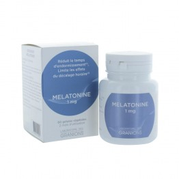 GRANIONS MELATONINE 1MG REDUIT LE TEMPS D'ENDORMISSEMENT 60GELULES