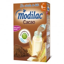 MODILAC CEREALES CACAO 6 MOIS 300G
