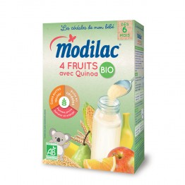 MODILAC CEREALES 4 FRUITS AVEC QUINOA BIO 230G