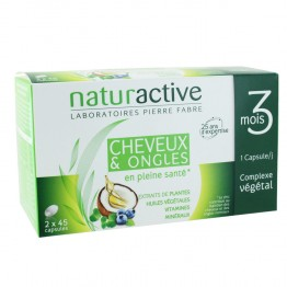NATURACTIVE CHEVEUX ET ONGLES FORCE ET VITALITE 2X45 CAPSULES