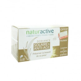 NATURACTIVE DORIANCE ANTI AGE SOLAIRE 2X60 CAPSULES + TROUSSE