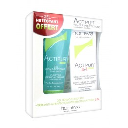 NOREVA ACTIPUR GEL DERMO NETTOYANT + SOIN ANTI IMPERFECTIONS CORRECTEUR INTENSIF