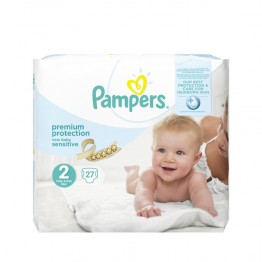 PAMPERS NEW BABY SENSITIVE PREMIUM PROTECTION 3-6KG 27 COUCHES