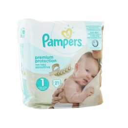 PAMPERS NEW BABY COUCHES TAILLE 1 2-5 KG X21
