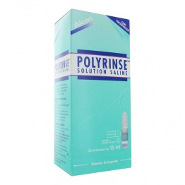 POLYRINSE SOLUTION STERILE 30 DOSES DE 15ML