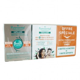 PURESSENTIEL CAPILLAIRE FORTIFIANT CHEVEUX ET ONGLES 3X60 CAPSULES