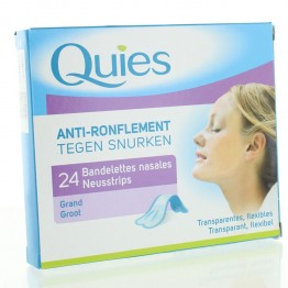 QUIES ANTI RONFLEMENT BANDES NASALES GRAND FORMAT BOITE DE 24