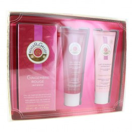 ROGER & GALLET COFFRET GINGEMBRE ROUGE PARFUM 50ML + LAIT CORPS 50ML + GEL DOUCHE 50ML