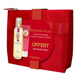 ROGER & GALLET TROUSSE GINGEMBRE ROUGE HUILE 100ML + GEL DOUCHE 50ML