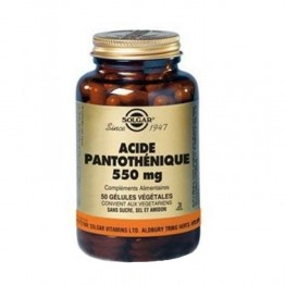 SOLGAR ACIDE PANTOTHENIQUE 550 MG