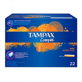 TAMPAX COMPAK SUPER PLUS TAMPONS AVEC APPLICATEUR X22