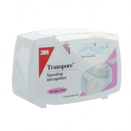 3M TRANSPORE SPARADRAP PLASTIQUE MICROPERFORE 25MMX5M