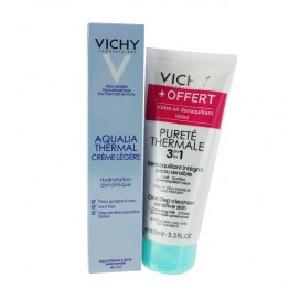 VICHY AQUALIA THERMAL CREME LEGERE 40ML + DEMAQUILLANT 3-EN-1 100ML