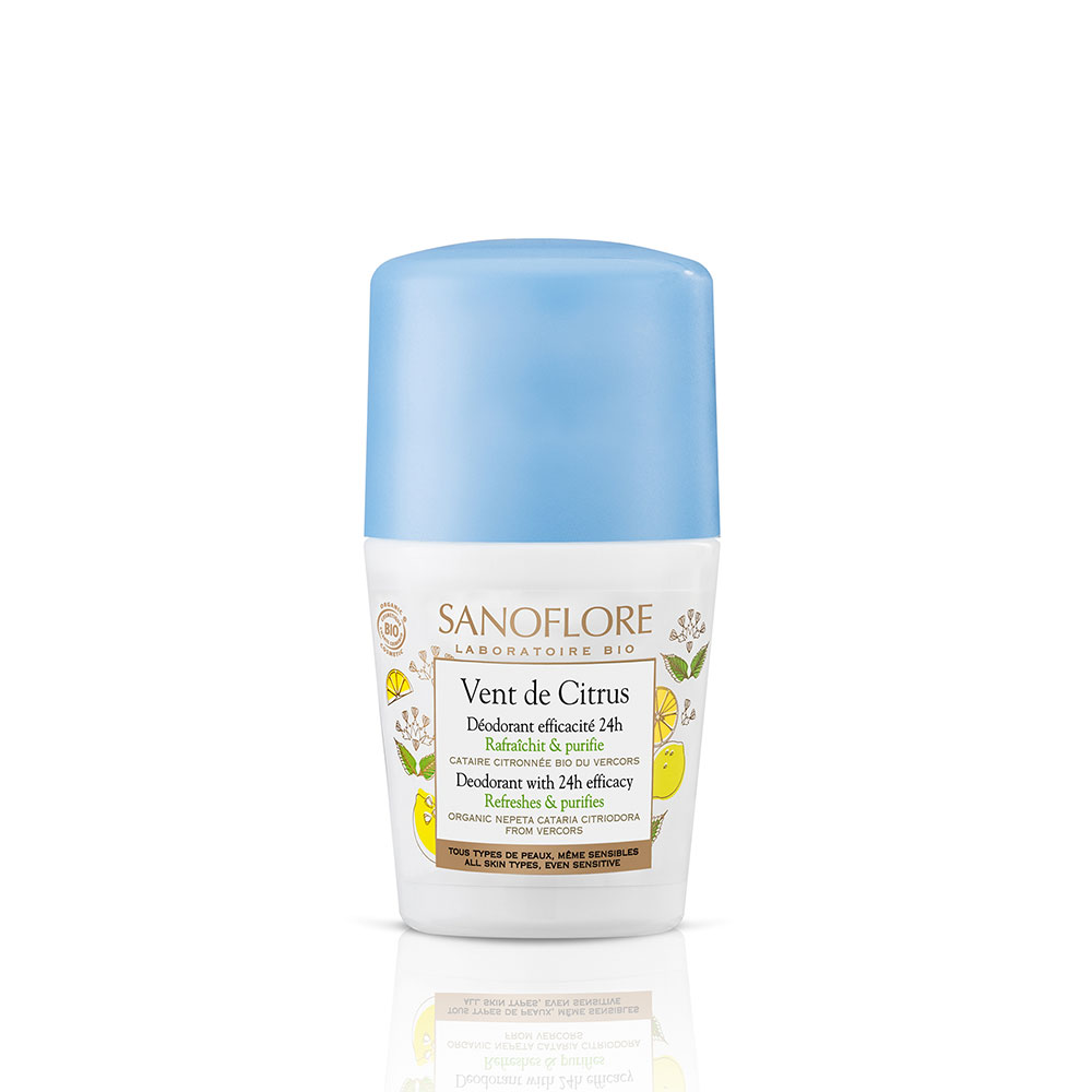 Deodorant Vent De Citrus Roll-on Bio 50ml Purete De Lin Sanoflore