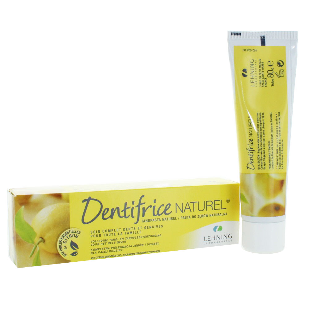 prix de dentifrice naturel soin complet dents gencives citron 80 g. Black Bedroom Furniture Sets. Home Design Ideas