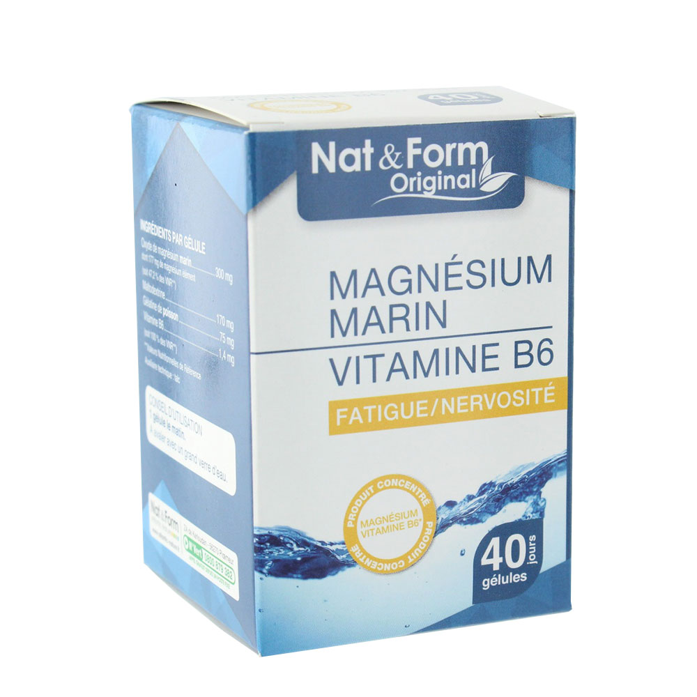 prix de nature marine magn sium marin vitamine b6 fatigue et puisement 40 g lules. Black Bedroom Furniture Sets. Home Design Ideas