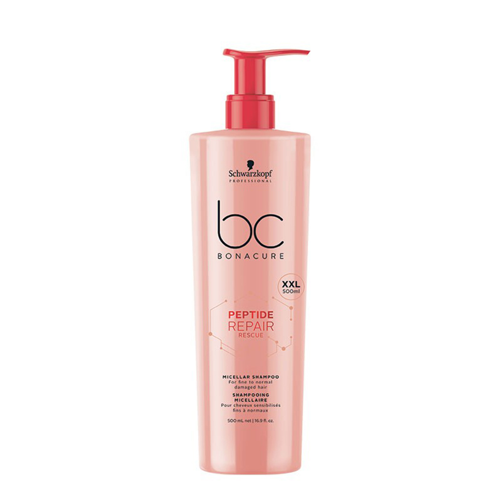PEPTIDE REPAIR RESCUE SHAMPOOING MICELLAIRE 500ML BC BONACURE SCHWARZKOPF PROFESSIONAL