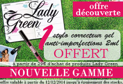 Nouvelle gamme Lady Green